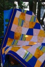 Blue and orange drape